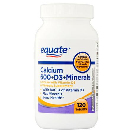 equate 600 + D supplément de calcium avec vitamine D et minéraux, 120ct