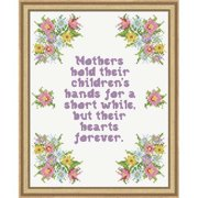 Herrschners Mother's Hand Picture Stamped Cross-Stitch Kit