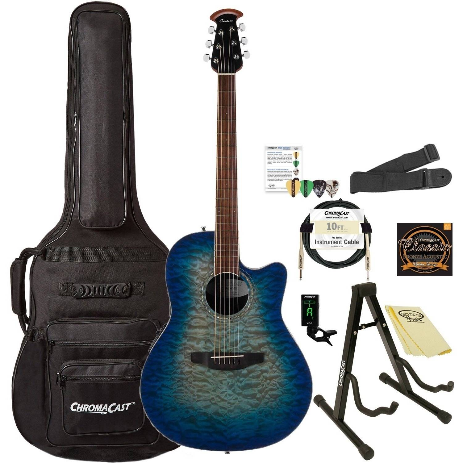 Ovation Celebrity Plus Super Shallow CS28P-RG Acoustic-Electric Guitar (Regal to Natural)... by