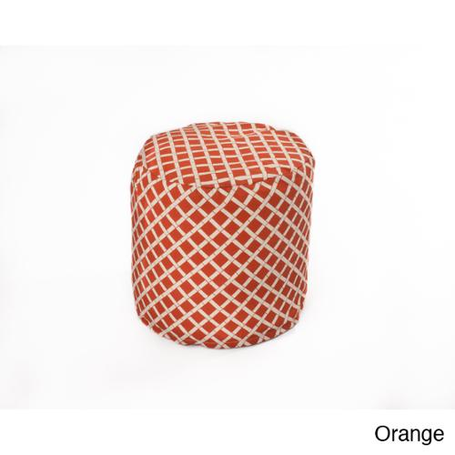 Chateau Designs Bamboo Pattern Outdoor Casual Beanbag Cylinder Orange