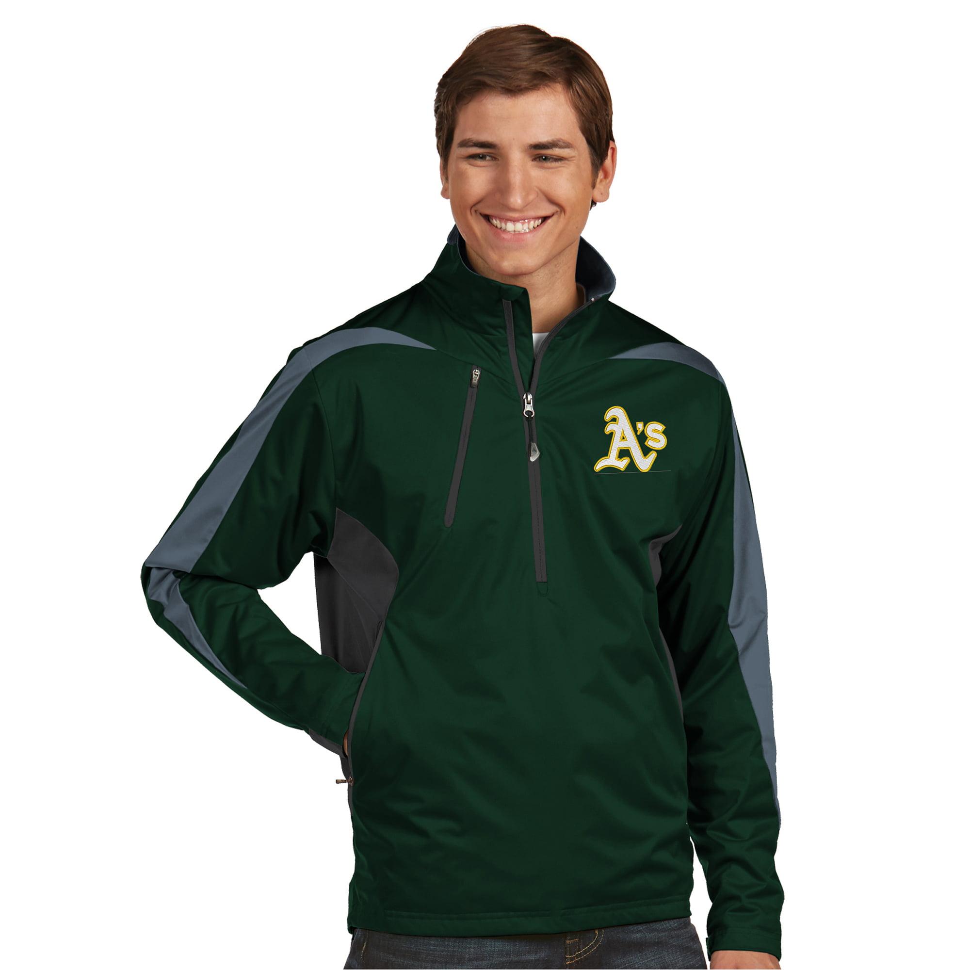 Oakland Athletics Antigua Discover Half-Zip Jacket - Green