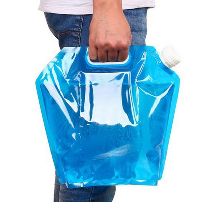 10L Portable Collapsible Drinking Water Container Emergency Water Storage Bag for Camping