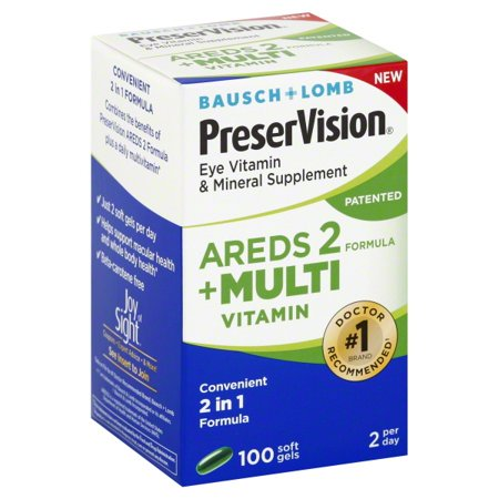 Bausch + Lomb PreserVision Eye Vitamin & Mineral Supplement - 100 CT