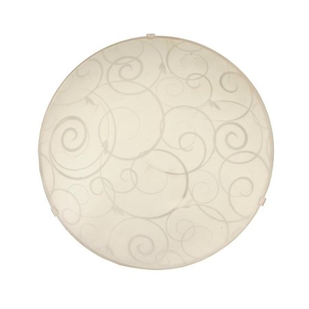 Round Flushmount Ceiling Light with Scroll Swirl Design