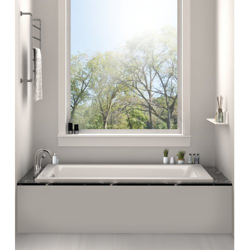 Fine Fixtures Drop In Bathtub 32'' x 48'' Soaking Bathtub