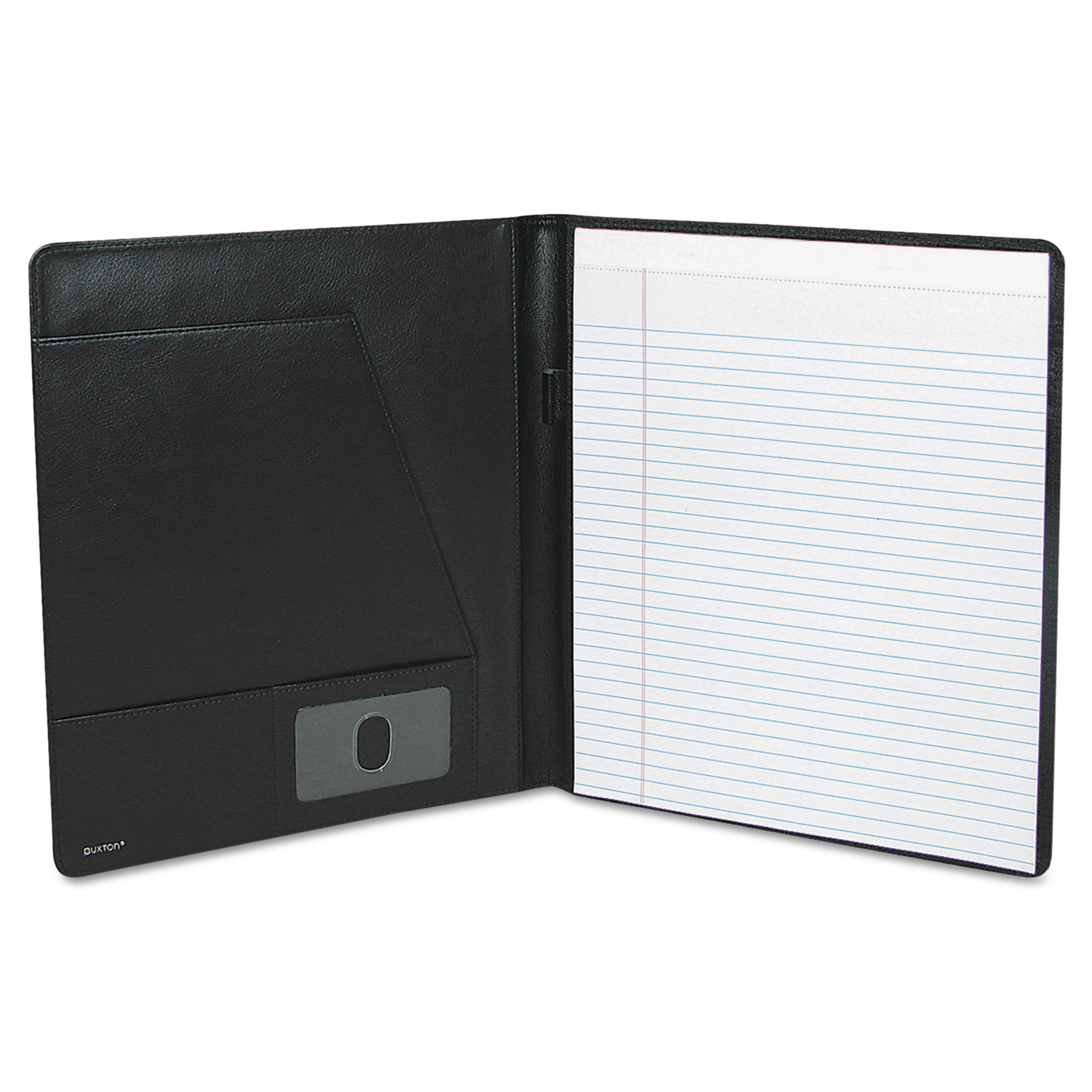 Buxton Executive Leather Padfolio, 9-1/2 x 12-1/2, Black - Walmart.com