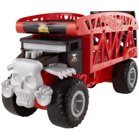 Monster Trucks Wood 4 Wheel (Hot Wheels Monster Truck Bone Shaker Monster Mover)