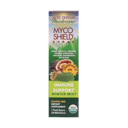 Fungi Perfecti  Mushrooms  Organic Myco Shield Spray  Immune Support Winter Mist  1 fl oz  30 - Immune Shield
