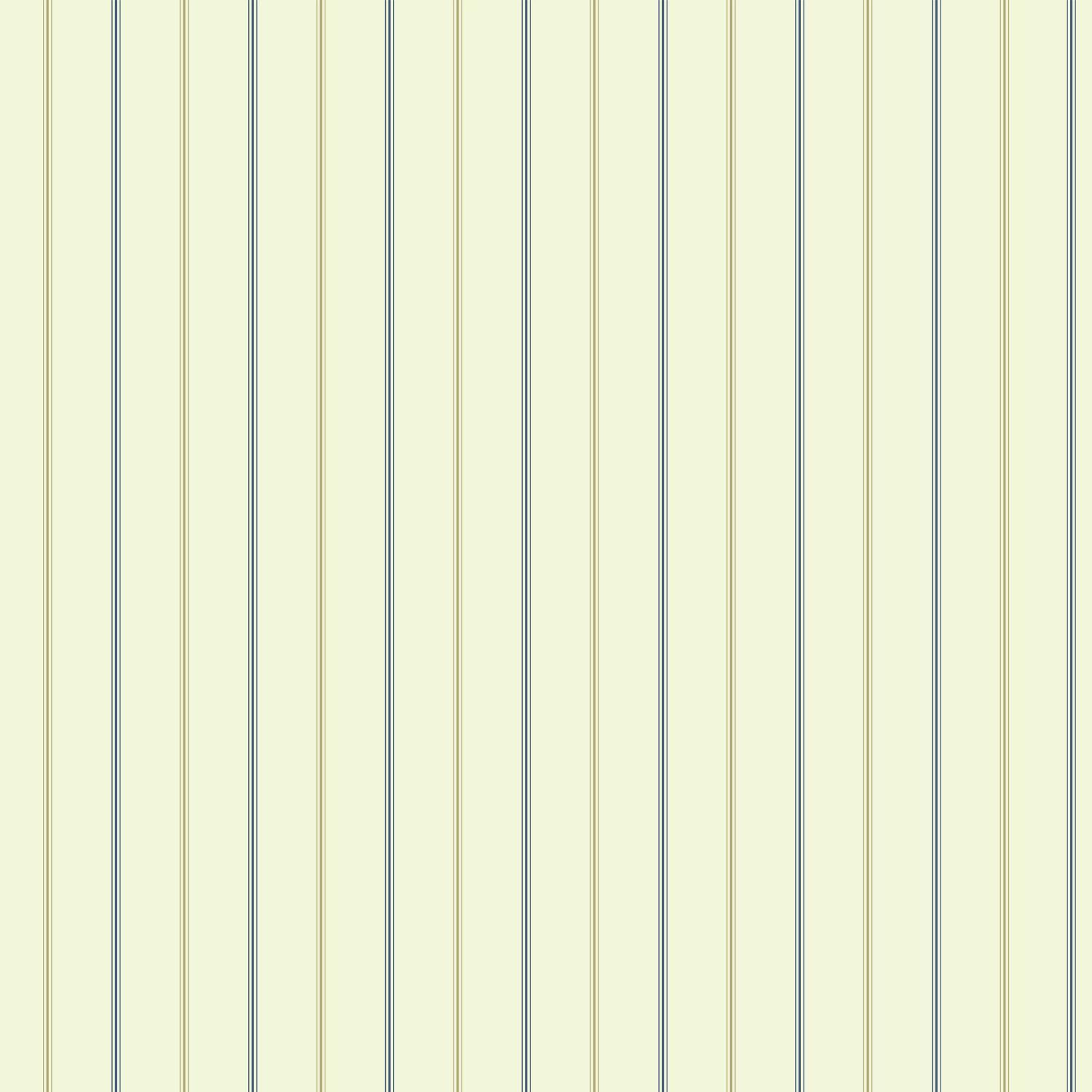 3-Pinstripe Wallpaper - Gold and Blue