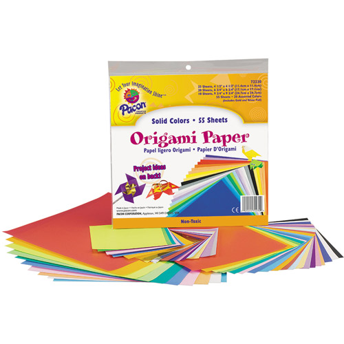 Pacon Origami Paper, 9-3/4 x 9-3/4, Assorted Bright Colors, 55 Sheets/Pack
