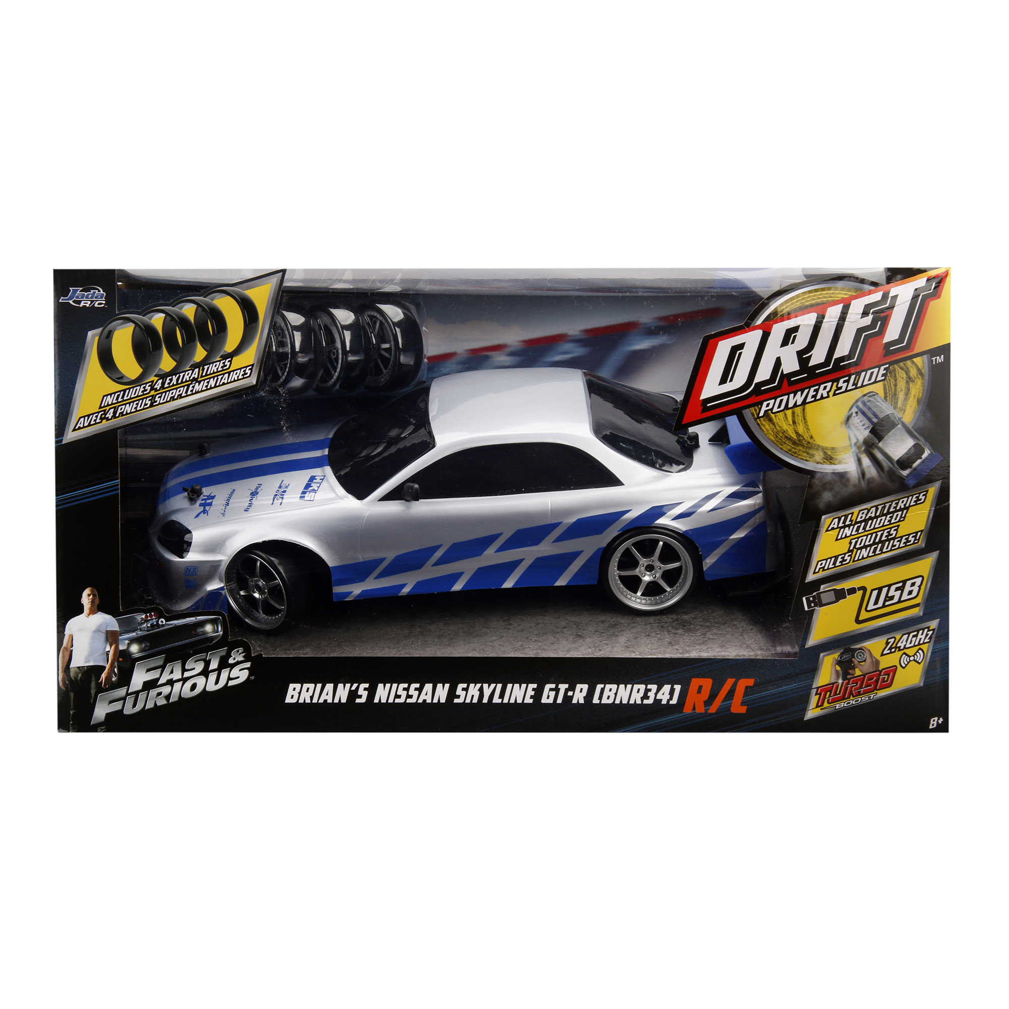 Jada Toys - Fast and Furious 1:10 Drift R/C- Nissan Skyline
