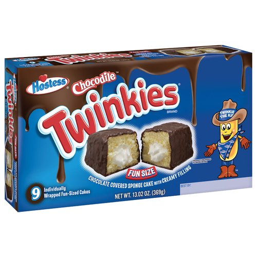 Hostess Chocodile Twinkies Fun Size Snack Cakes, 9 count, 13. 02 oz