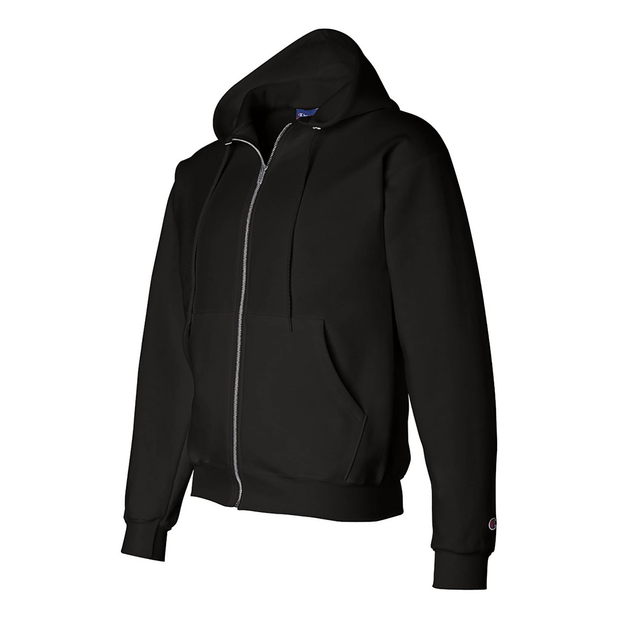 Adult Full Champion 5050 SweatshirtBlackLarge Zip Hooded WDHI29E