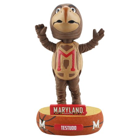 Forever Bobbleheads (Maryland Terrapins Mascot Testudo Baller Special Edition Bobblehead NCAA )