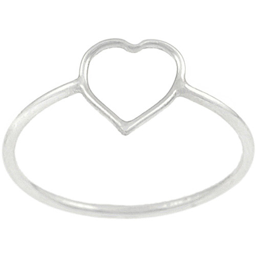 Brinley Co. Heart Cutout Ring in Sterling Silver