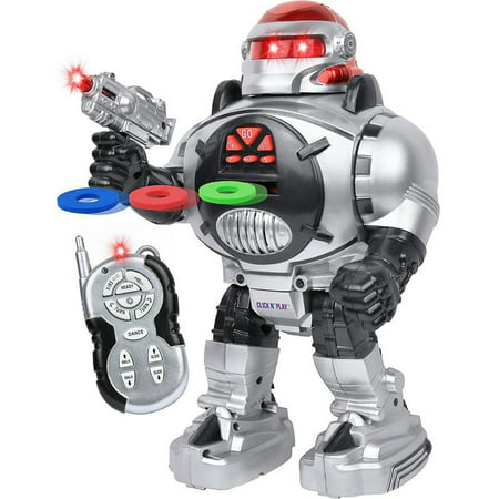 Robot Remote (Click N' Play Remote Control Robot for Kids, Fires Discs, Sings, Dances, Talks, Shoots, Slides, and Entertains )