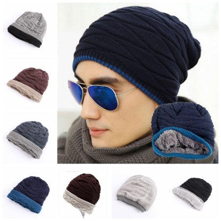 Cashmere Knit Shell (EFINNY Knit Winter Women Men Beanie Hat Baggy Unisex Ski Cap Skull Cashmere Hip-Hop )