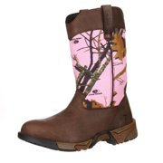 """Rocky Outdoor Boots Womens 10"""" Aztec Leather Mossy Oak Pink RKYS133"""
