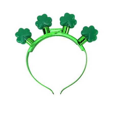 St Patricks Day Flashing Clover Light Up Headband Novelty Glow Costume Accessory](Flashing Headbands)