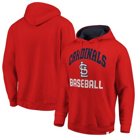 St. Louis Cardinals Fanatics Branded Big & Tall Fleece Pullover Hoodie - Red/Navy