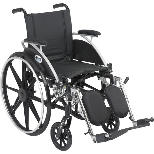 Drive Medical 16 Inches Viper Wheelchair With Flip Back Desk Arm And Elevating Legrest - 1 Ea, L416Dda-Elr