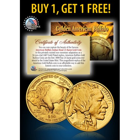 24K Gold Plated 2017 AMERICAN GOLD BUFFALO Indian Coin * BUY 1 GET 1 FREE * BOGO](Buy Costume.com)