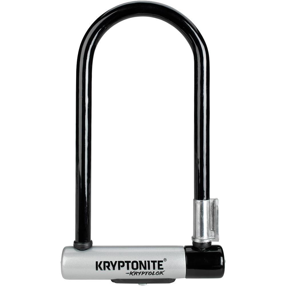 Kryptonite New-U Kryptolok Series 2 Standard Bicycle U-Lock with with FlexFrame Bracket (4-Inch x 9-Inch)