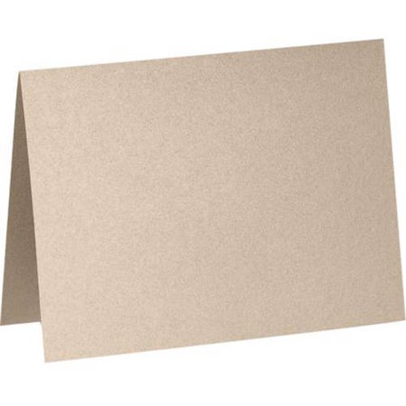 A1 Folded Card (3 1/2 x 4 7/8) - Taupe Metallic (50