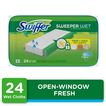 Swiffer Sweeper Wet Pad Refills, Open Window Fresh, 24 ct