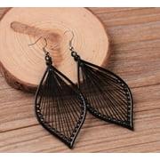 1Pair Fashion Women Alloy Leaf Stud Dangle Earings Eardrop Jewelry New
