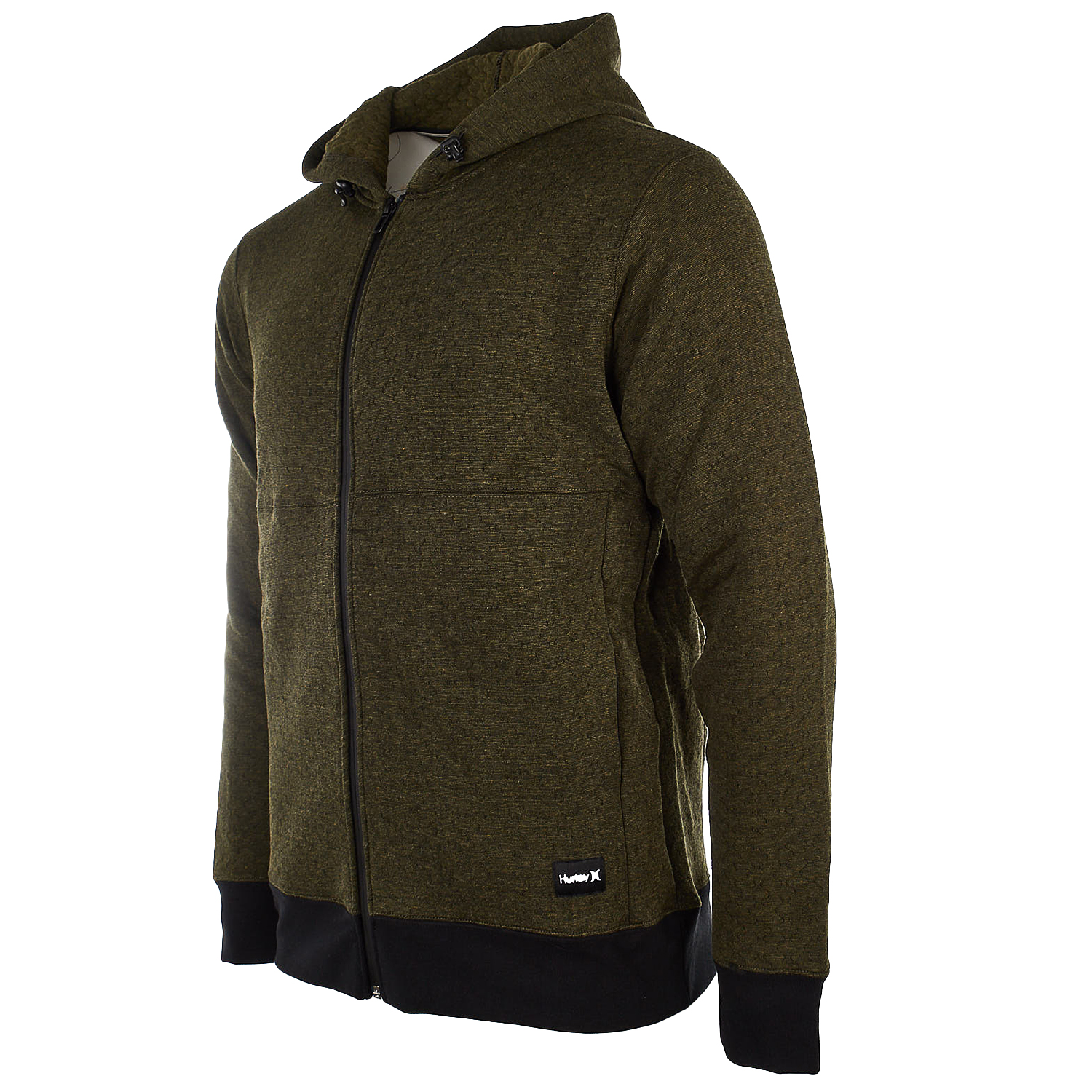 Xl Fleece Hurley Hollowknit Hoodie Zip Full Olive Mens Canvas 8wSg7qH