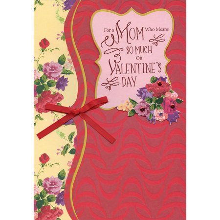 Designer Greetings Means So Much Hand Crafted Over Sized: Mom Premium Keepsake Valentine's Day Card](Valentines Day Crafts)