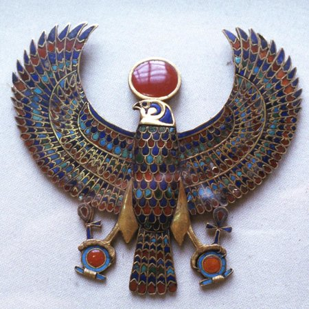 Pectoral Jewel from the Treasure of Tutankhamun, Ancient Egyptian, C1325 Bc Print Wall -