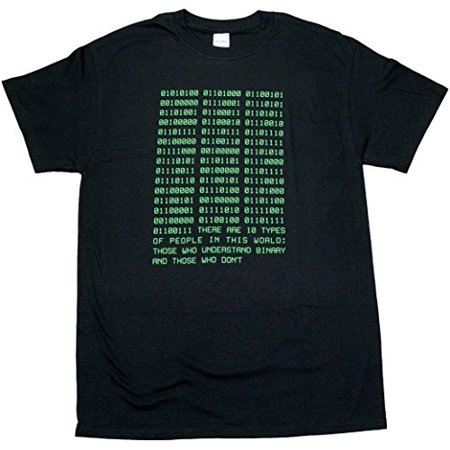 Adult X Men (Binary Funny Computer Programmer Math Adult Unisex Mens T-Shirt Black)