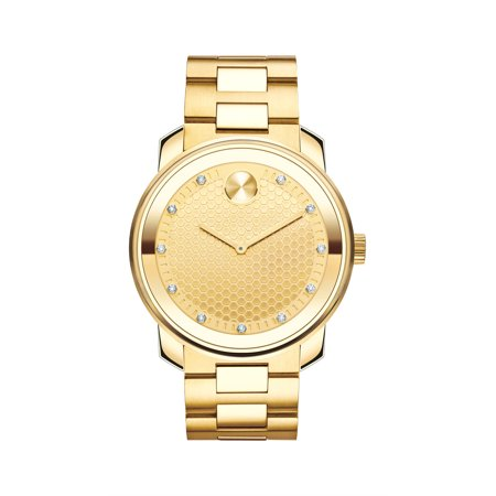 Movado Bold Gold-Tone Mens Watch 3600374 ()