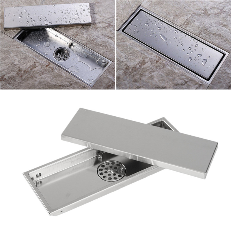 stainless steel invisible bathroom floor drain with removable cover rh walmart com