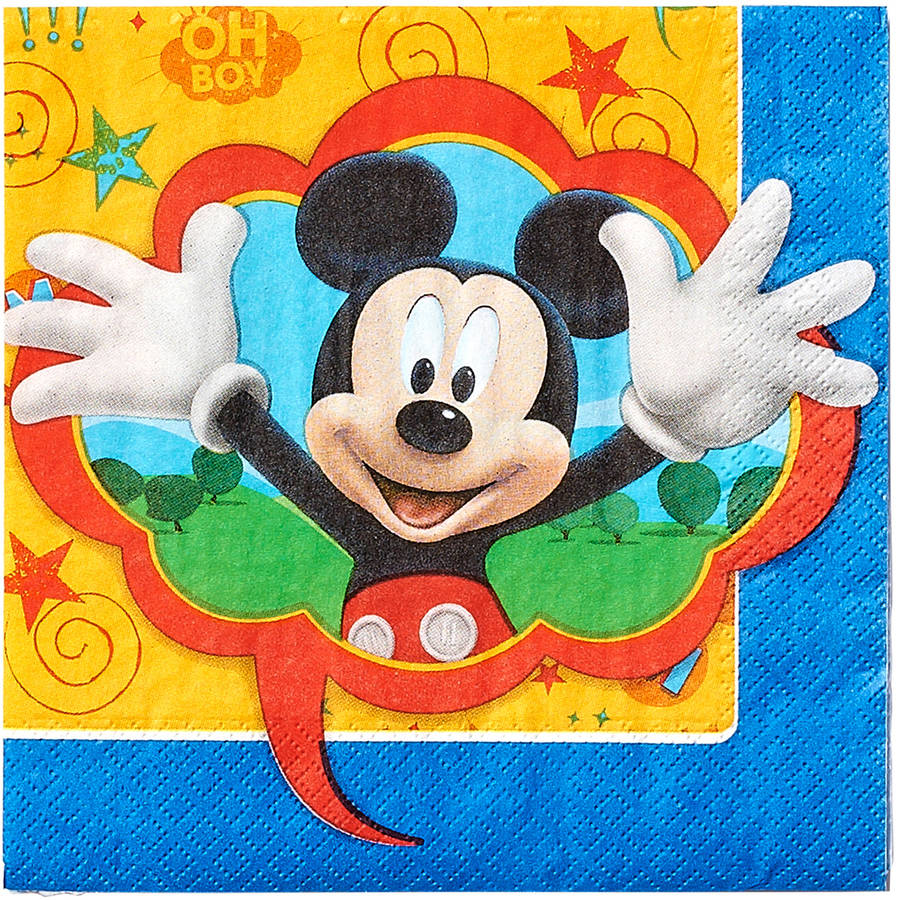 Mickey Mouse Clubhouse Lunch Napkins, 16 Count, Party Supplies