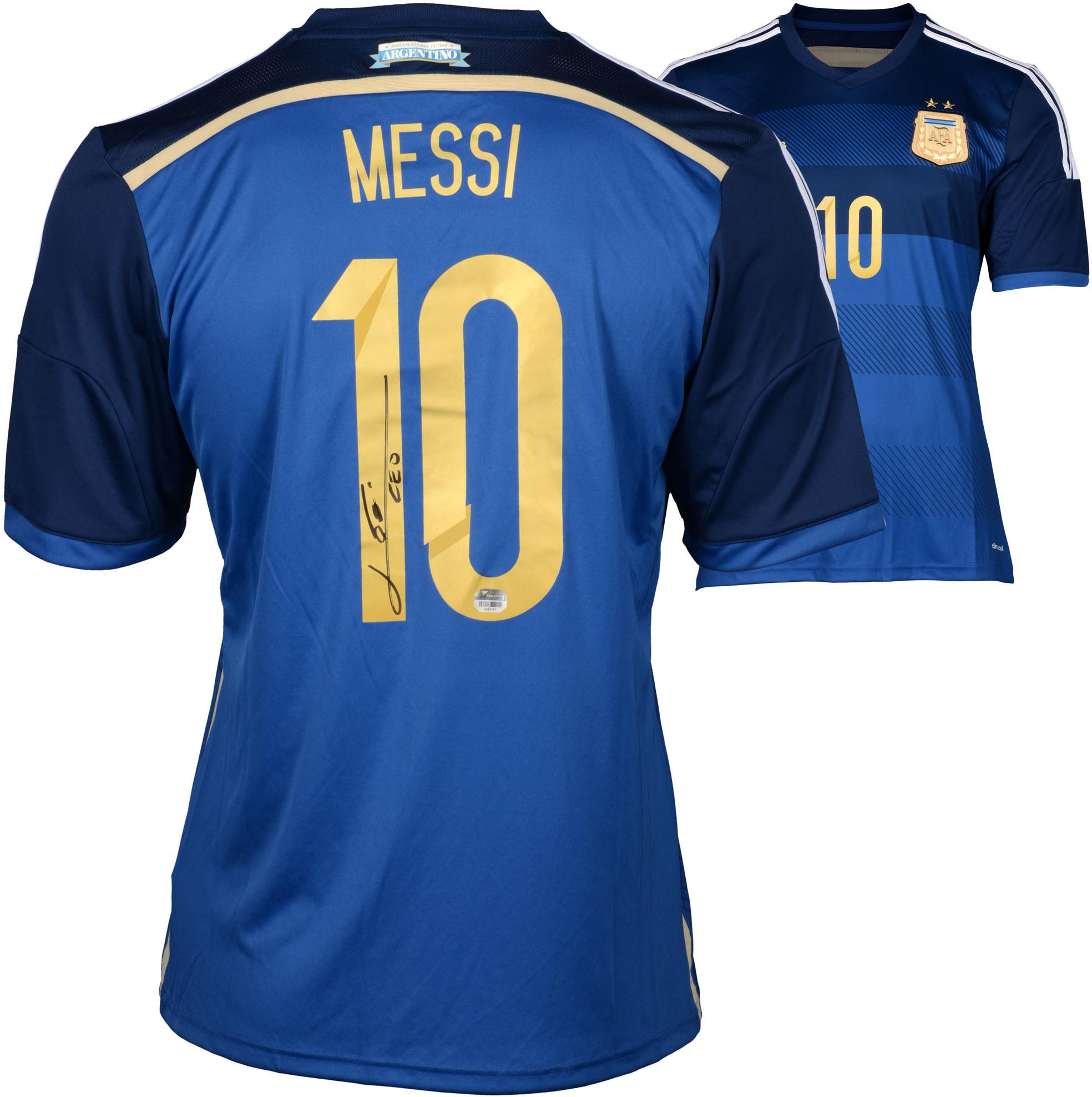 Lionel Messi Argentina Autographed Blue Jersey - Fanatics Authentic Certified