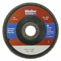 "5"" Vortec Pro Abrasive Flap Disc, Angled, Phenolic Back, Sold As 1 Each"
