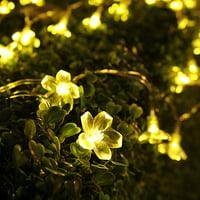 TORCHSTAR 16.4ft String Lights 50 LED Blossom Flower Lights, Garden Christmas Lighting (Warm White), IR Remote, Valentine's Day Party Decoration