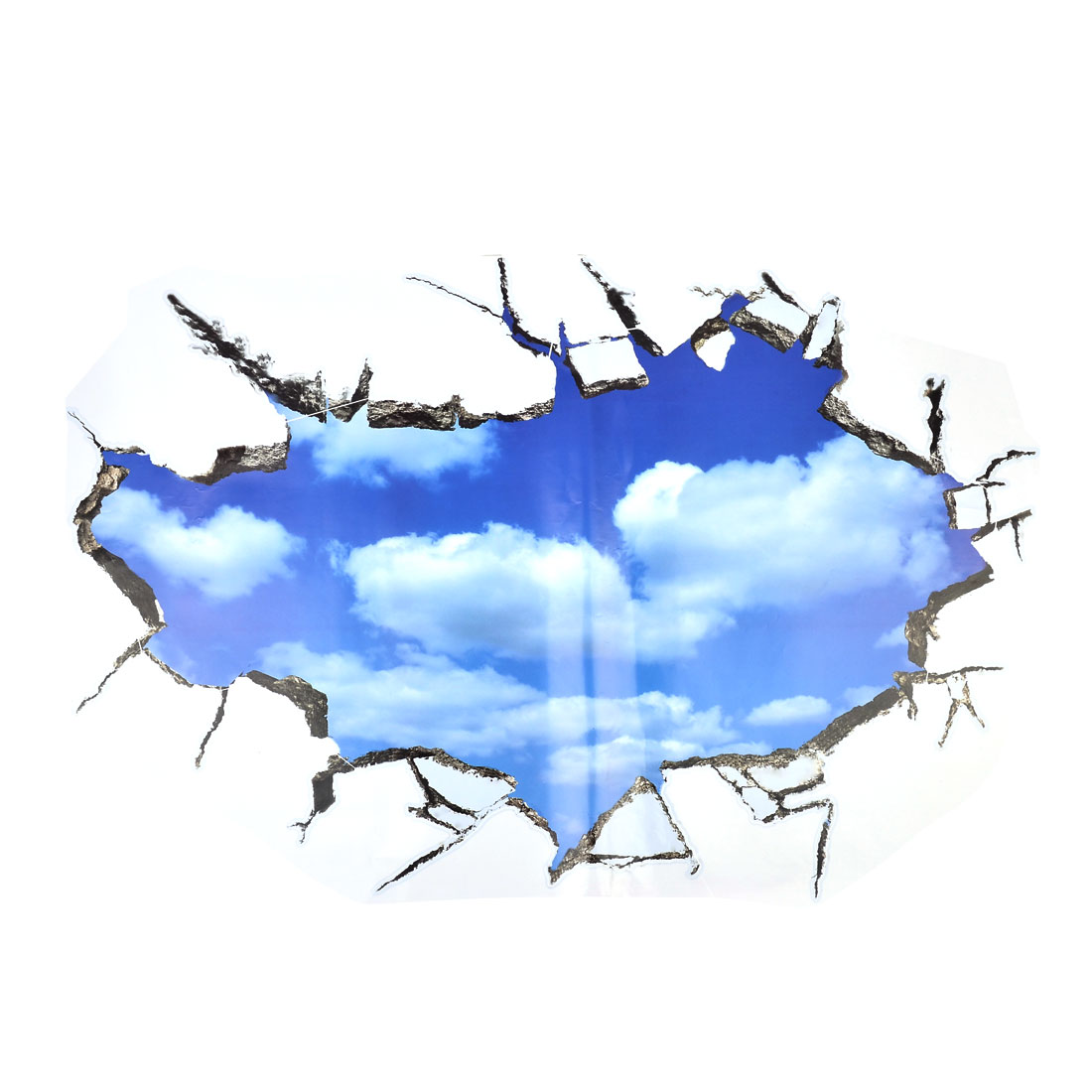 3d View Effect Sky Pattern Adhesive Wall Sticker Decal Wallpaper 90x60cm