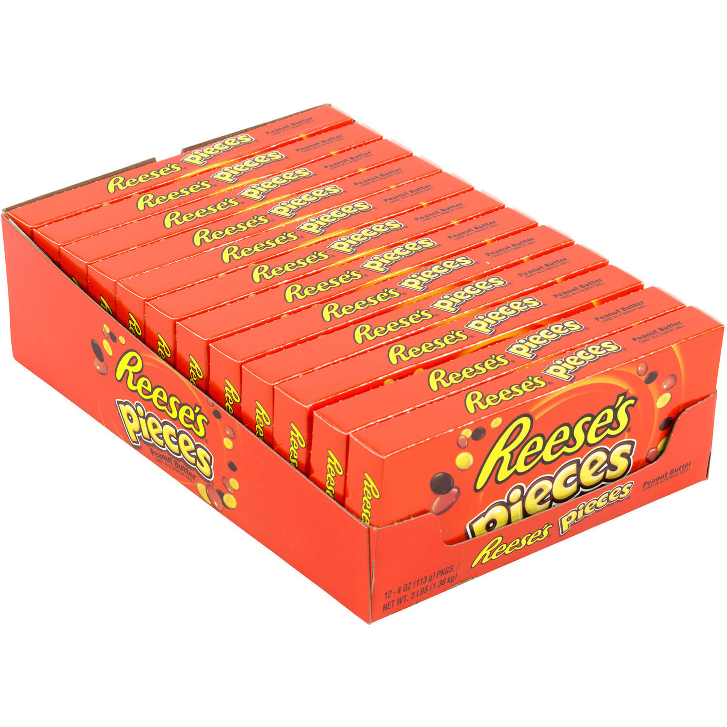 Reese's Pieces Candy, 4 oz, 12 count