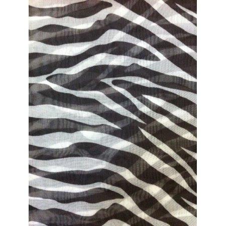 2 Piece Black White Zebra Sheer Window Curtains/drape ...
