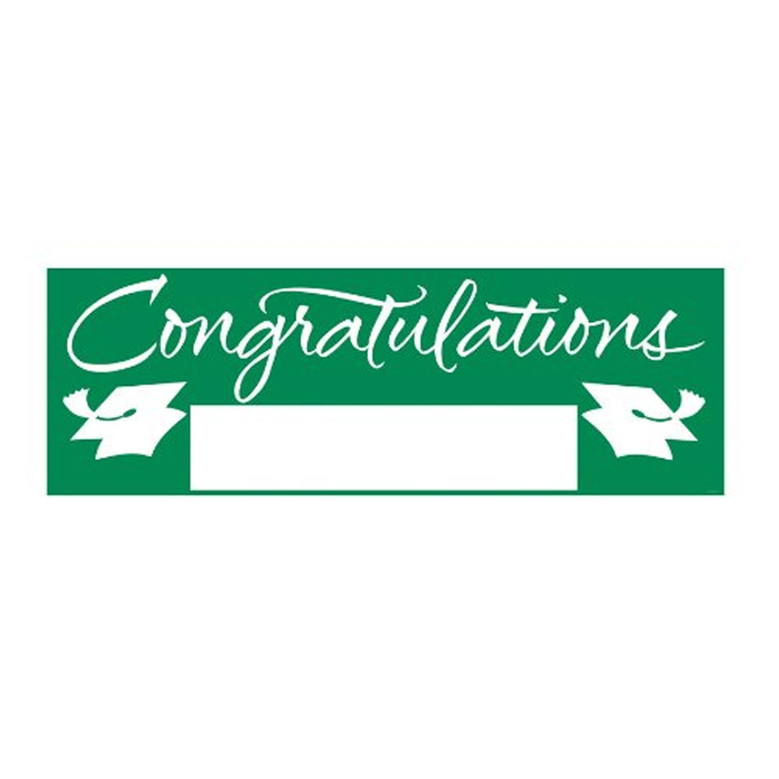 Fill In Emerald Green Grad Giant Party Banner 60 Inch x 20 Inch, Case of 6