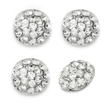Expo 1.7cm Glass Rhinestone Buttons - 4 pack