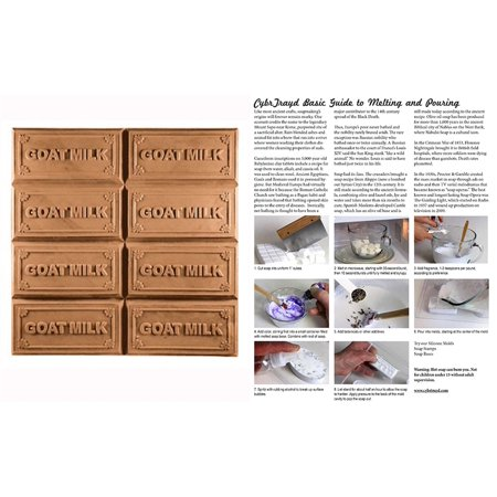 Milky Way Clear PVC Goats Milk Tray Soap Mold - Melt & Pour, Cold