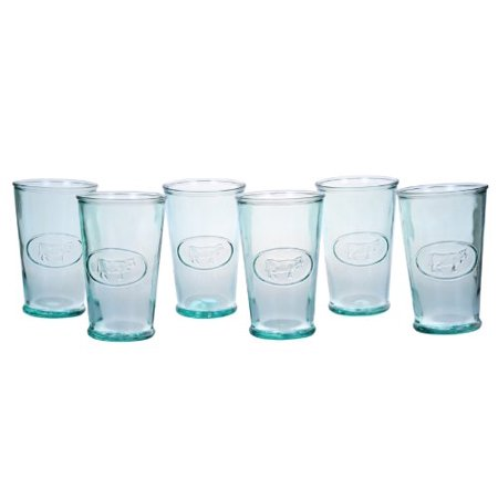 - Global Amici Milk Glass in Cow Design Drinking Glassware Set of 6