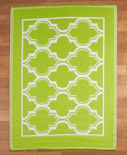 Bright Summer Lattice Mosaic Indoor Outdoor Patio Floor