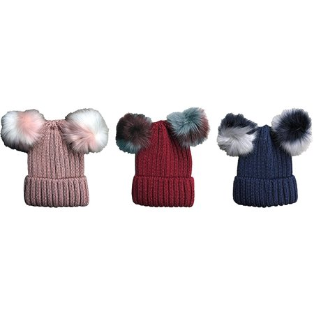 Paperboy Hats Wholesale (Yacht & Smith Womens Pom Pom Winter Beanies, Wholesale Bulk Winter Hats (3 Pack Assorted)