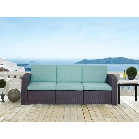 San Pedro Outdoor Sofa with Quality Outdoor Fabric, Teal ()